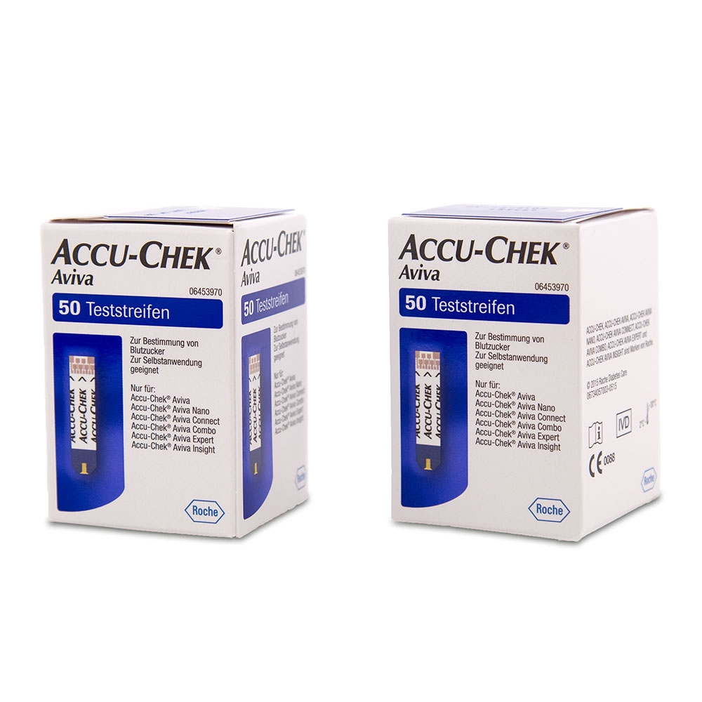 Accu-Chek Aviva Blutzuckerteststreifen - 100 Stück