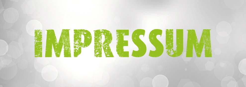 Banner mit Wort Impressum