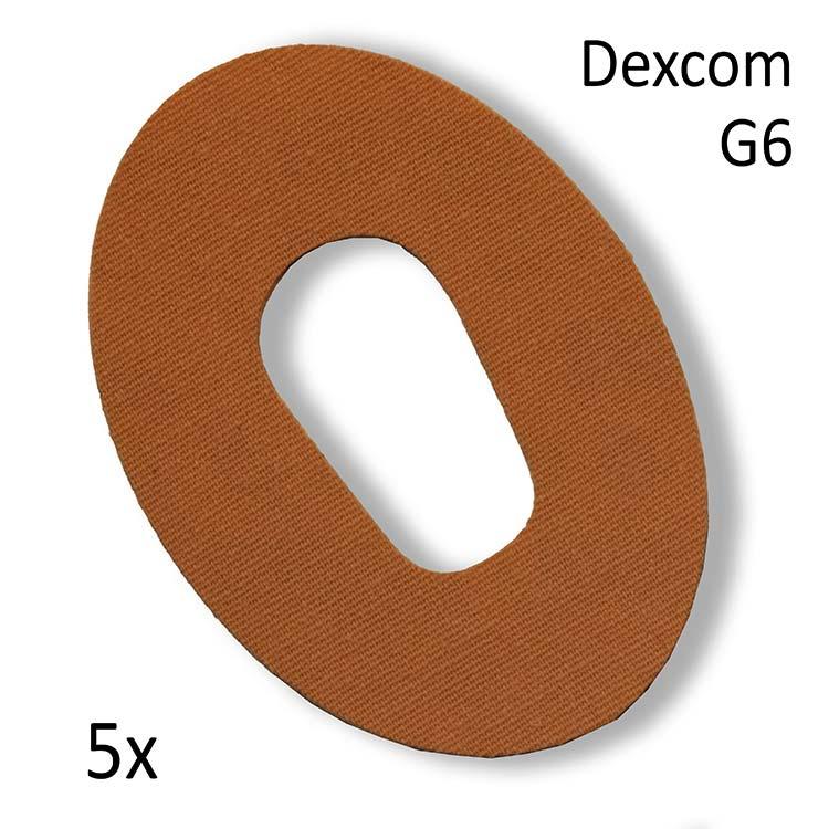 Dexcom G6 Fixierpflaster beige - 5 Stück