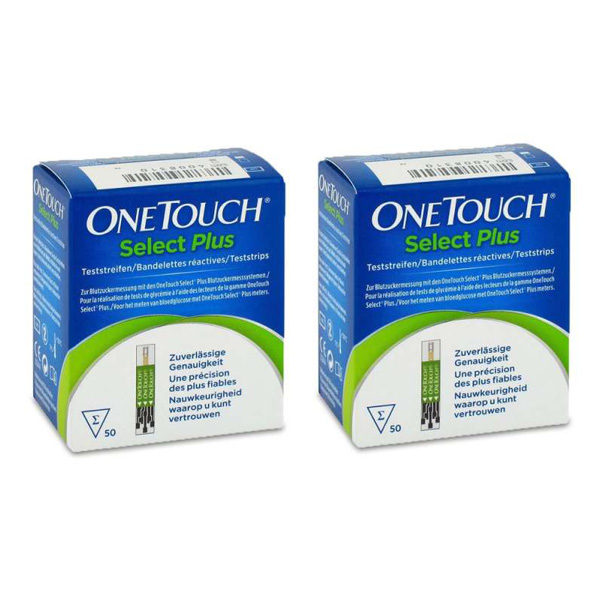 OneTouch Select Plus Blutzuckerteststreifen, 100 Stück