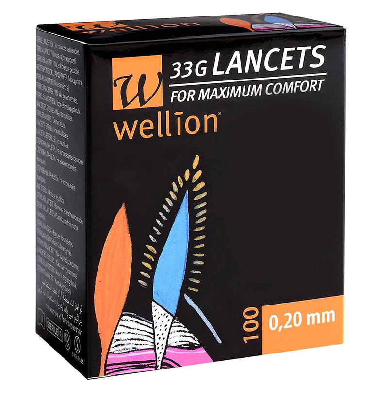 Wellion Lanzetten 33G, 50 Stück