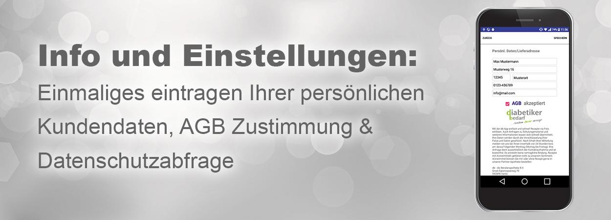 Banner mit Text Informationen db App