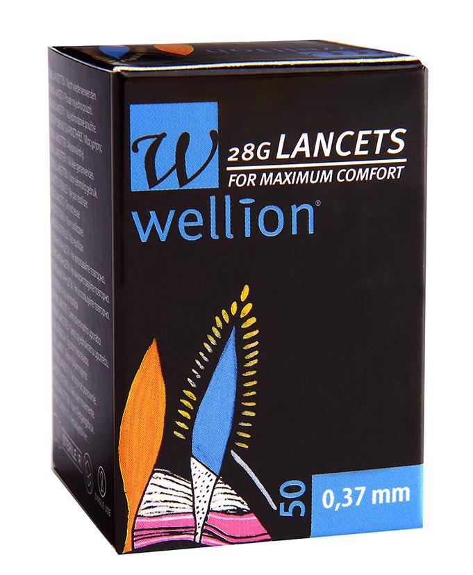 Wellion Lanzetten 28G, 50 Stück