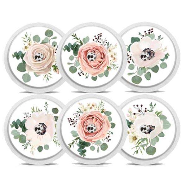 """FreeStyle Libre Sticker 6er-Set """"Floral"""""""