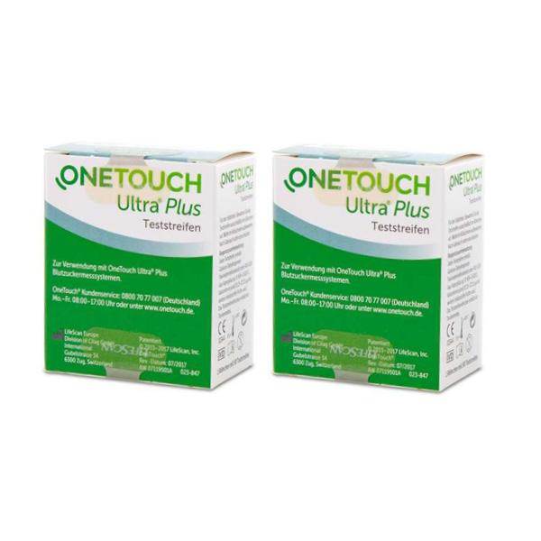 One Touch Ultra Plus Flex Blutzuckerteststreifen, 100 Stück