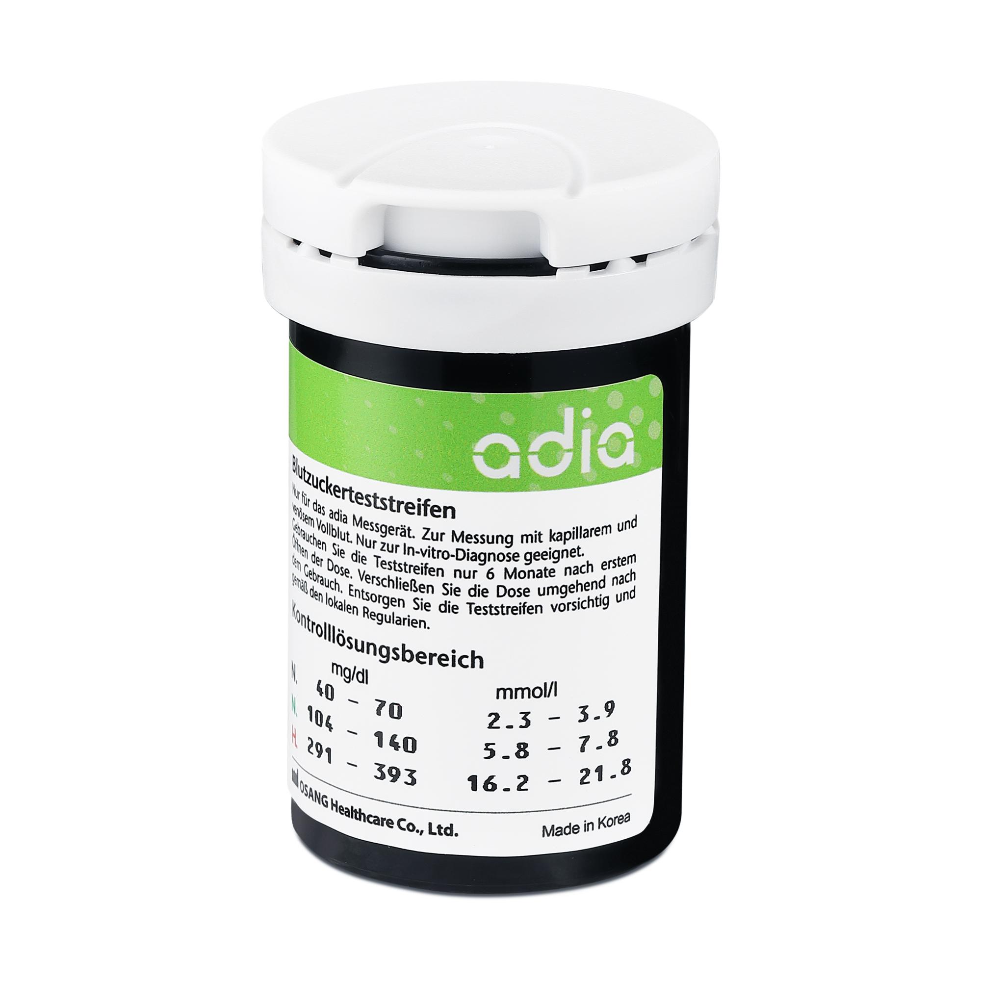 adia Blutzuckerteststreifen, 50 Stück