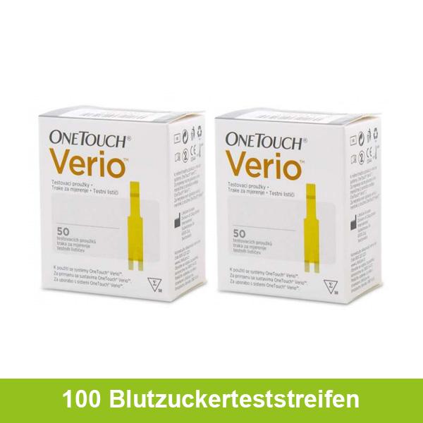 OneTouch Verio Blutzuckerteststreifen, 100 Stück