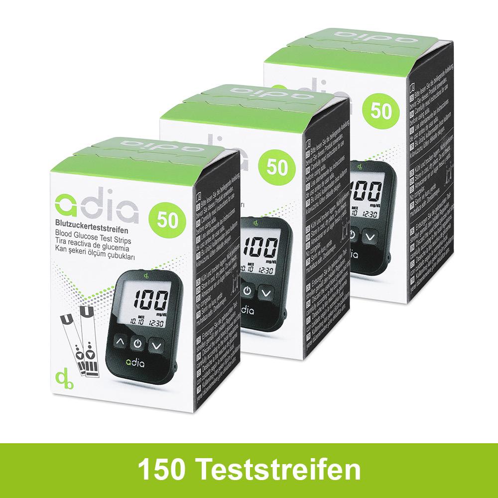 adia Blutzuckerteststreifen, 150 Stück