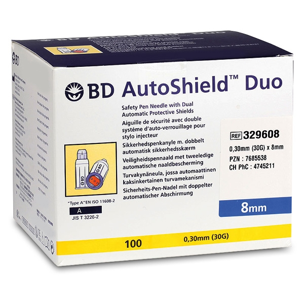 BD Autoshield Duo 8mm PZN07685538