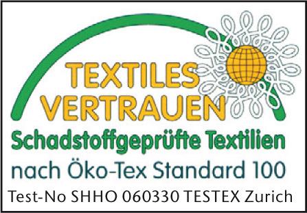 Die Best-Schlaf Matratzenauflagen erfüllen den Öko-Tex 100 Standard.