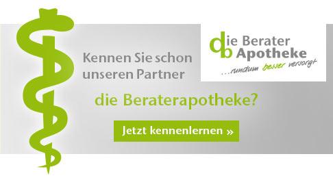 Banner mit Text die Beraterapotheke Partner von diabetikerbedarf