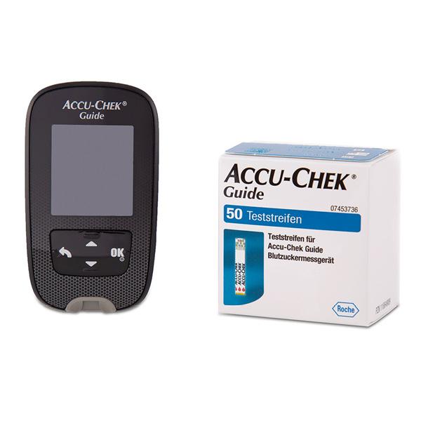 Accu-Chek Guide Starter-Set – Blutzuckermessgerät inkl. 60 Blutzuckerteststreifen - mg/dl