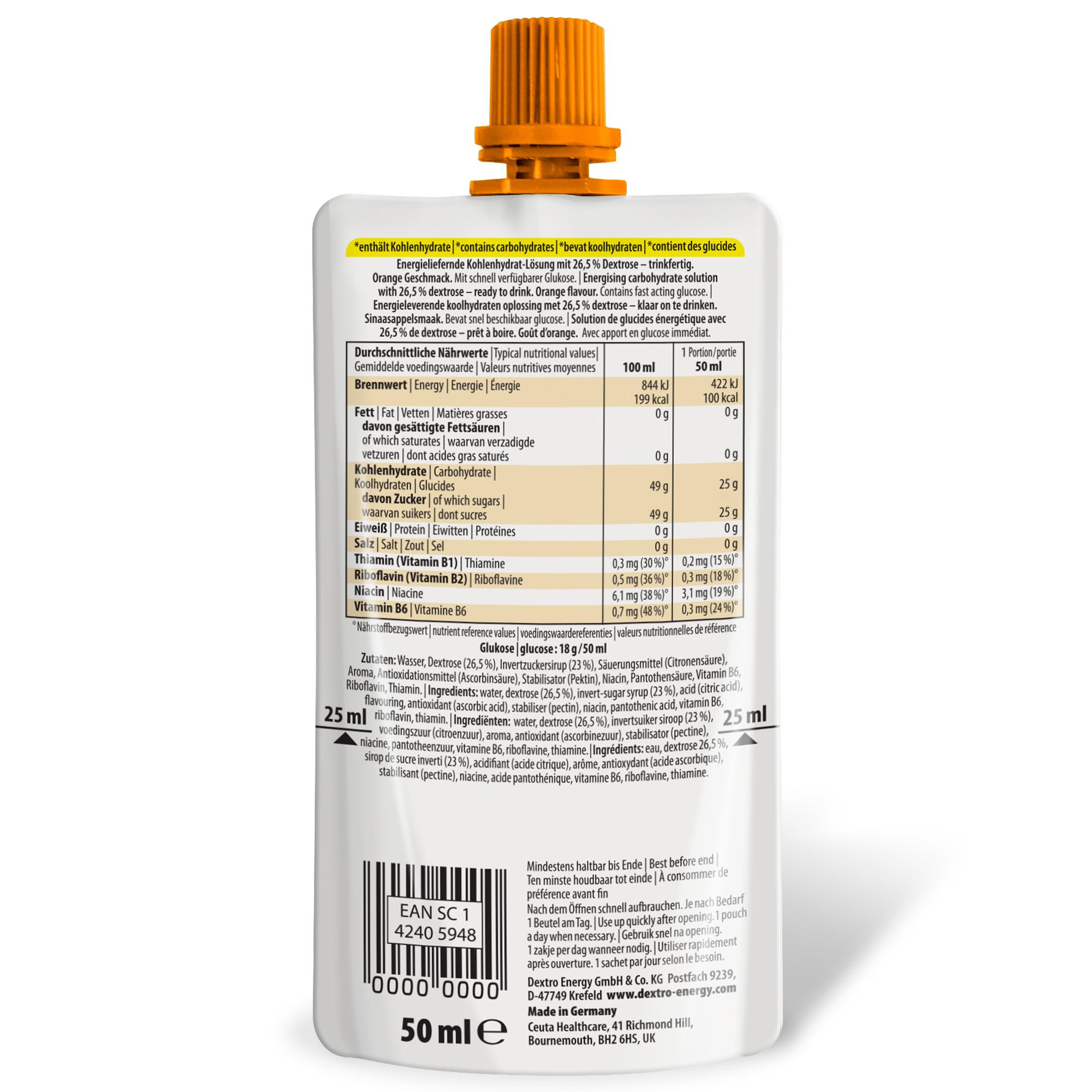 DextroEnergy Dextrose Drink Orange PZN 16910052