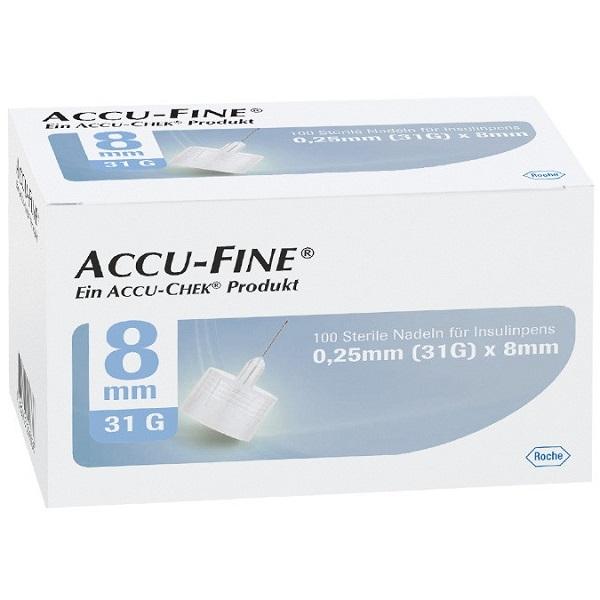 Accu-Chek Accu-Fine Pennadeln 8mm PZN 12772558