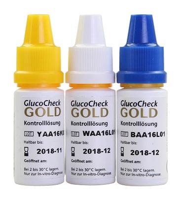 GlucoCheck GOLD Kontrolllösungen
