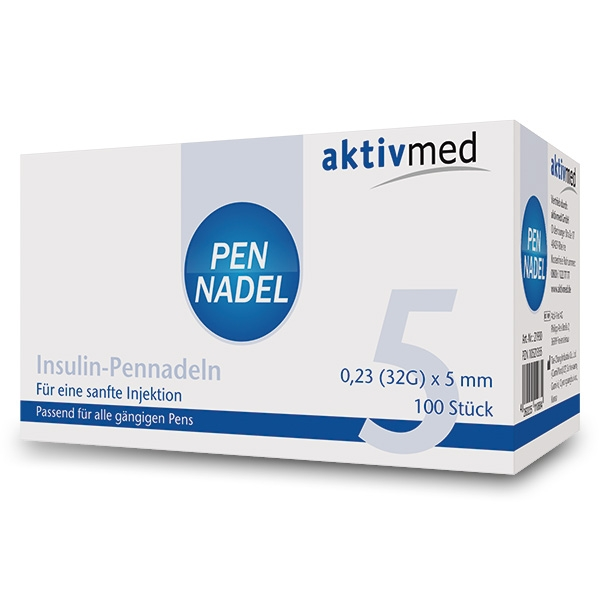 aktivmed Pennadeln - 100 Stück, 5mm