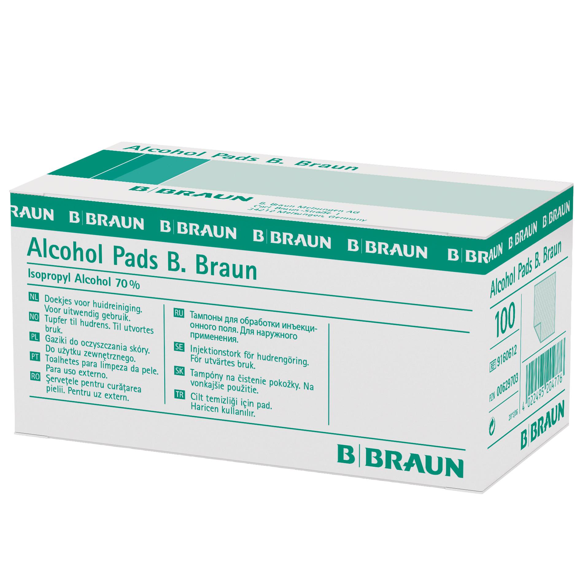 B. BRAUN Alcohol Pads, 100 Stück