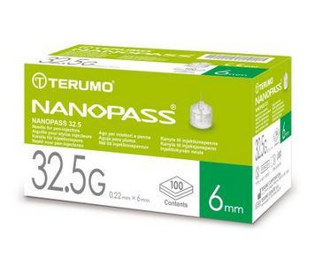 Terumo Nanopass Pennadeln, 100 Stück, 6mm