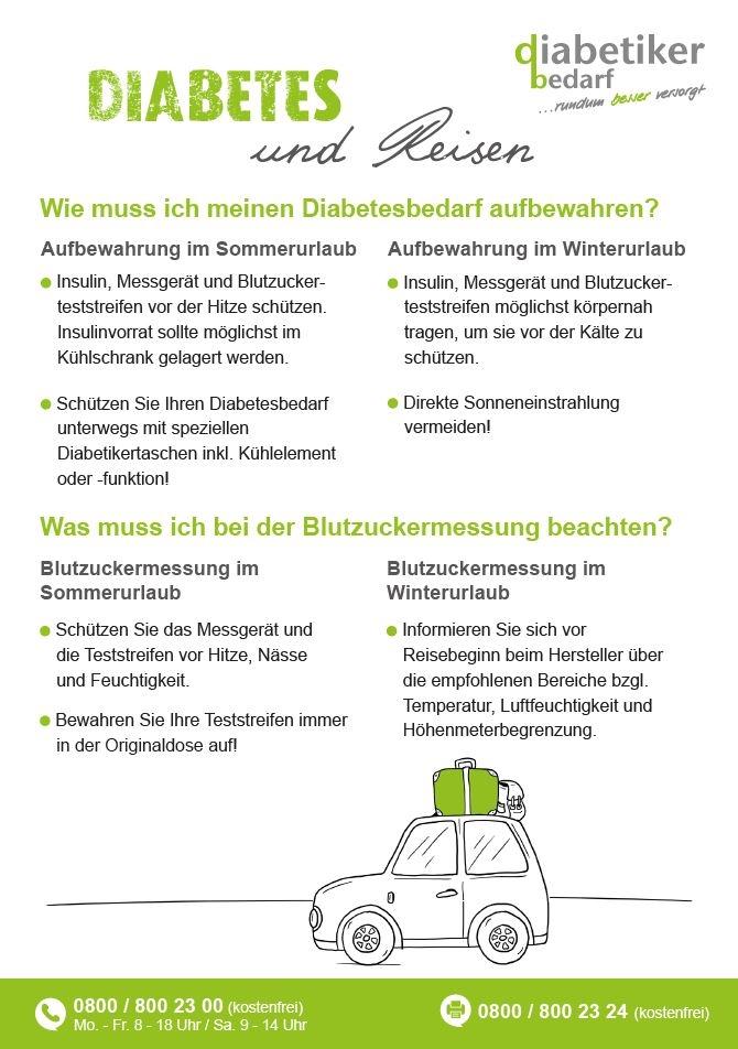 Diabetes und Reisen Info-Flyer
