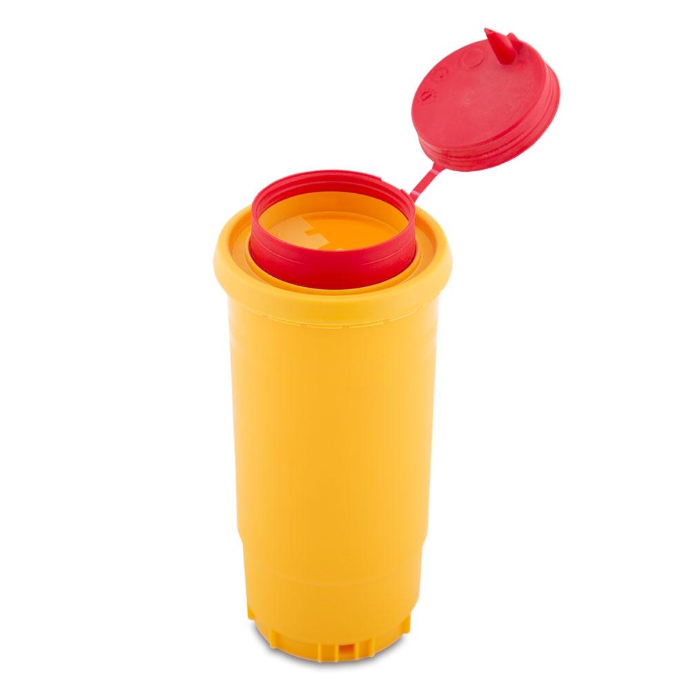 Kanülen und Lanzetten-Abwurfbehälter Quick Box 0,5 l